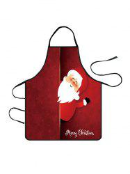 Christmas Santa Claus Greeting Print Cooking Apron -