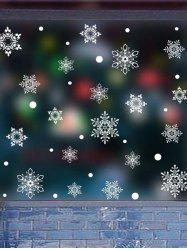 Christmas Snowflake Decorative Wall Art Stickers -