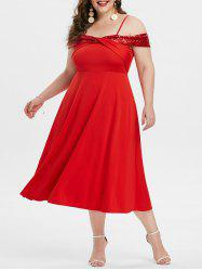 Plus Size Front Twist Sequin Cocktail Party Dress -