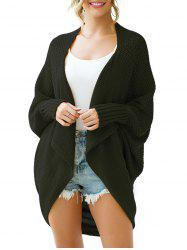 Batwing Sleeve Longline Open Front Circle Cardigan -