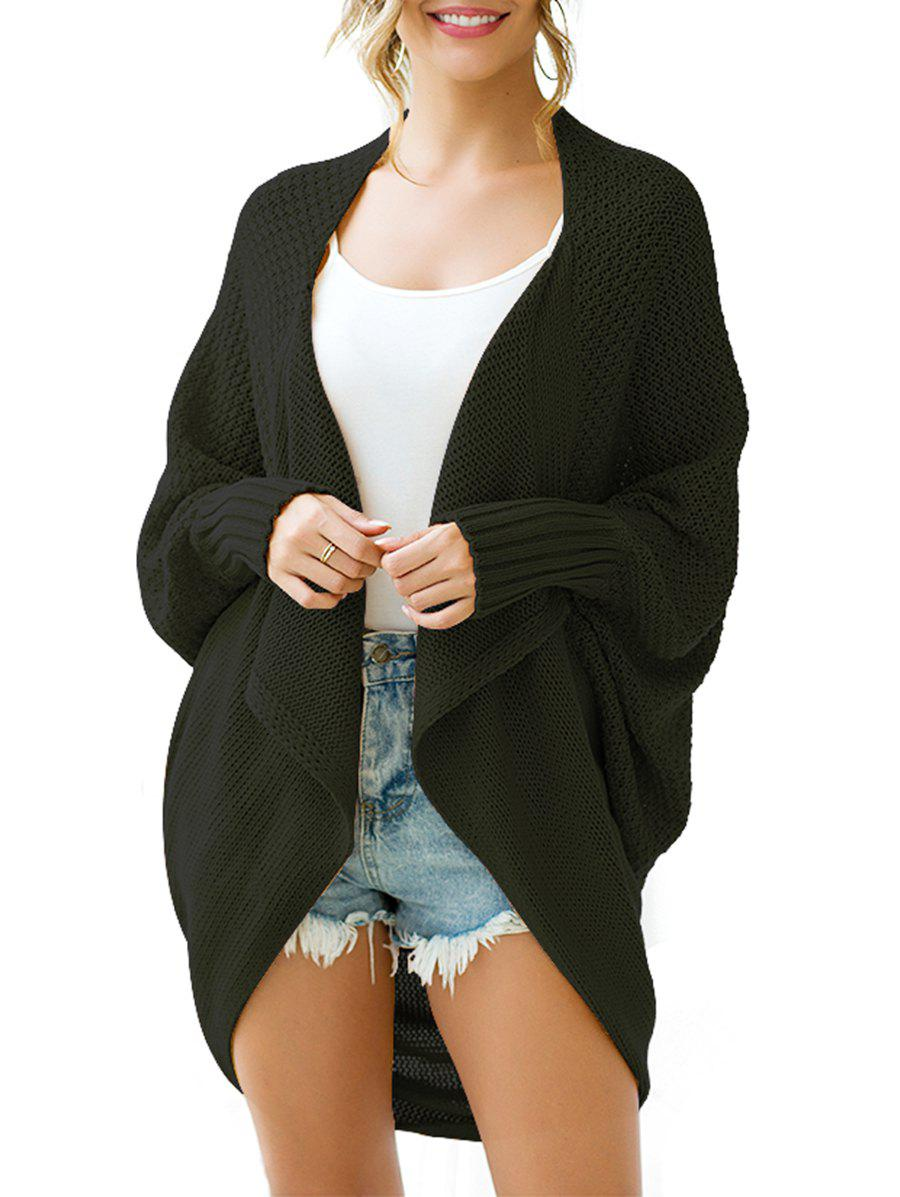 Discount Batwing Sleeve Longline Open Front Circle Cardigan