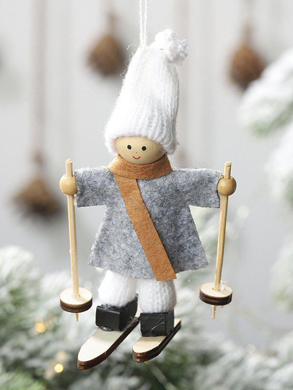 Outfit Christmas Tree Decoration Hanging Ski Doll