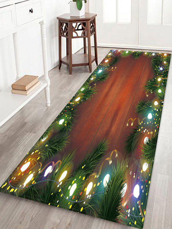 Latest Christmas Wooden Pattern Floor Rug