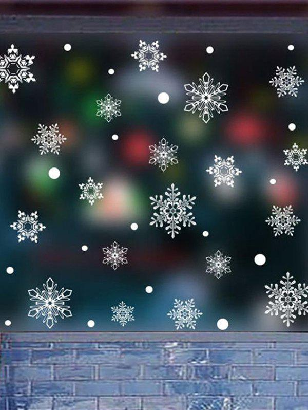 Chic Christmas Snowflake Decorative Wall Art Stickers
