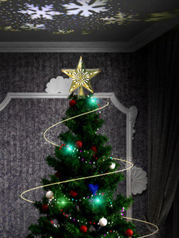 Shops Star Shape Christmas Tree Topper with Rotatable LED Projector Light