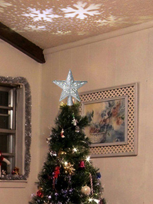 Discount Star Shape Christmas Tree Topper with Rotatable LED Projector Light