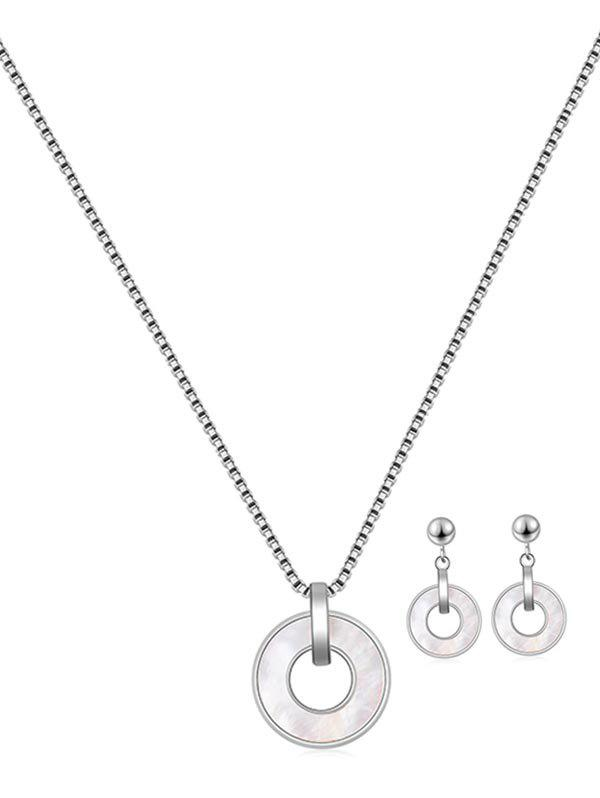 Shops Brief Hollow Circle Pendant Jewelry Set