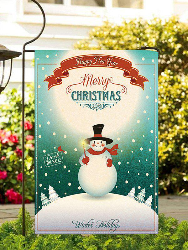 Shop Christmas Snowman Greeting Print Garden Flag