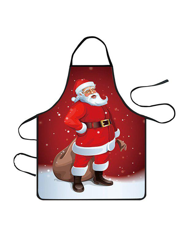 Hot Christmas Santa Claus Snowfield Print Cooking Apron