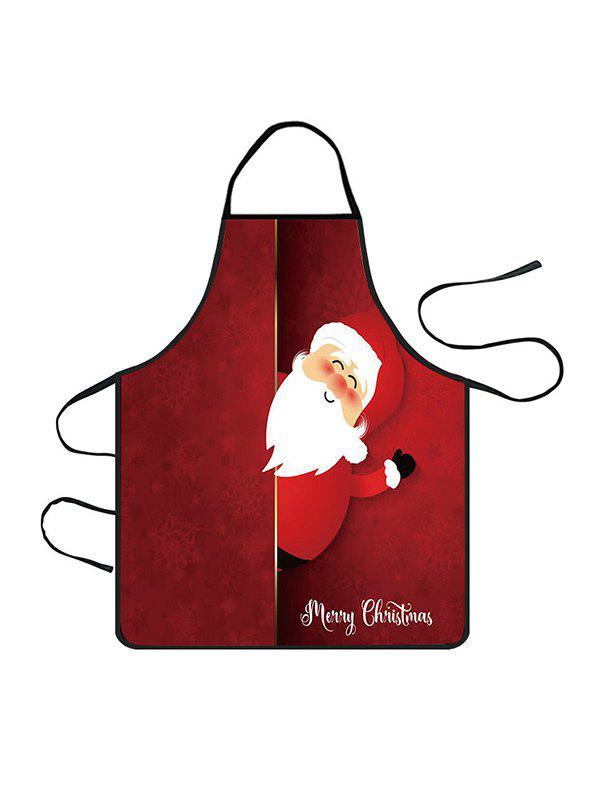 Outfit Christmas Santa Claus Greeting Print Cooking Apron