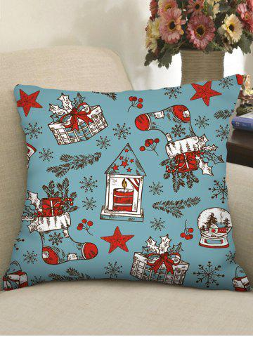 Christmas Gifts Stockings Print Decorative Pillowcase