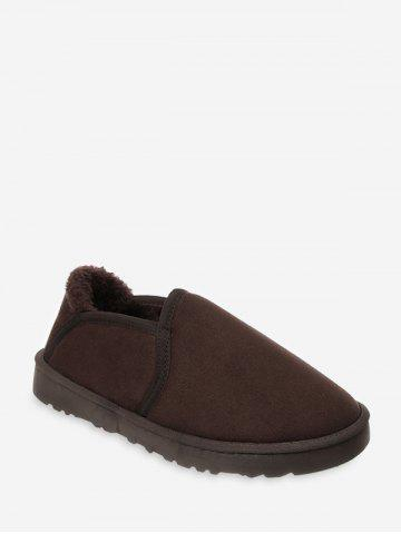 Solid Color Suede Low Top Warm Shoes