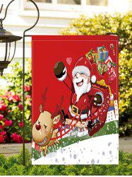 Father Christmas Gift Double Side Decoration Flag -
