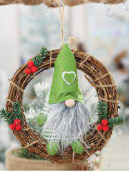Father Christmas Wreath Hanging Decoration -