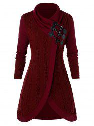 Plus Size Horn Button Sweater -