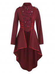 Ribbon Patched Buttons Tail Coat -