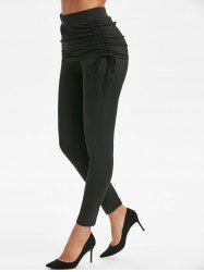 Side Cinched Skirted Leggings -