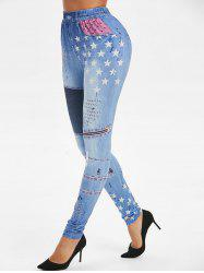 Funny Graphic Star Jeggings -