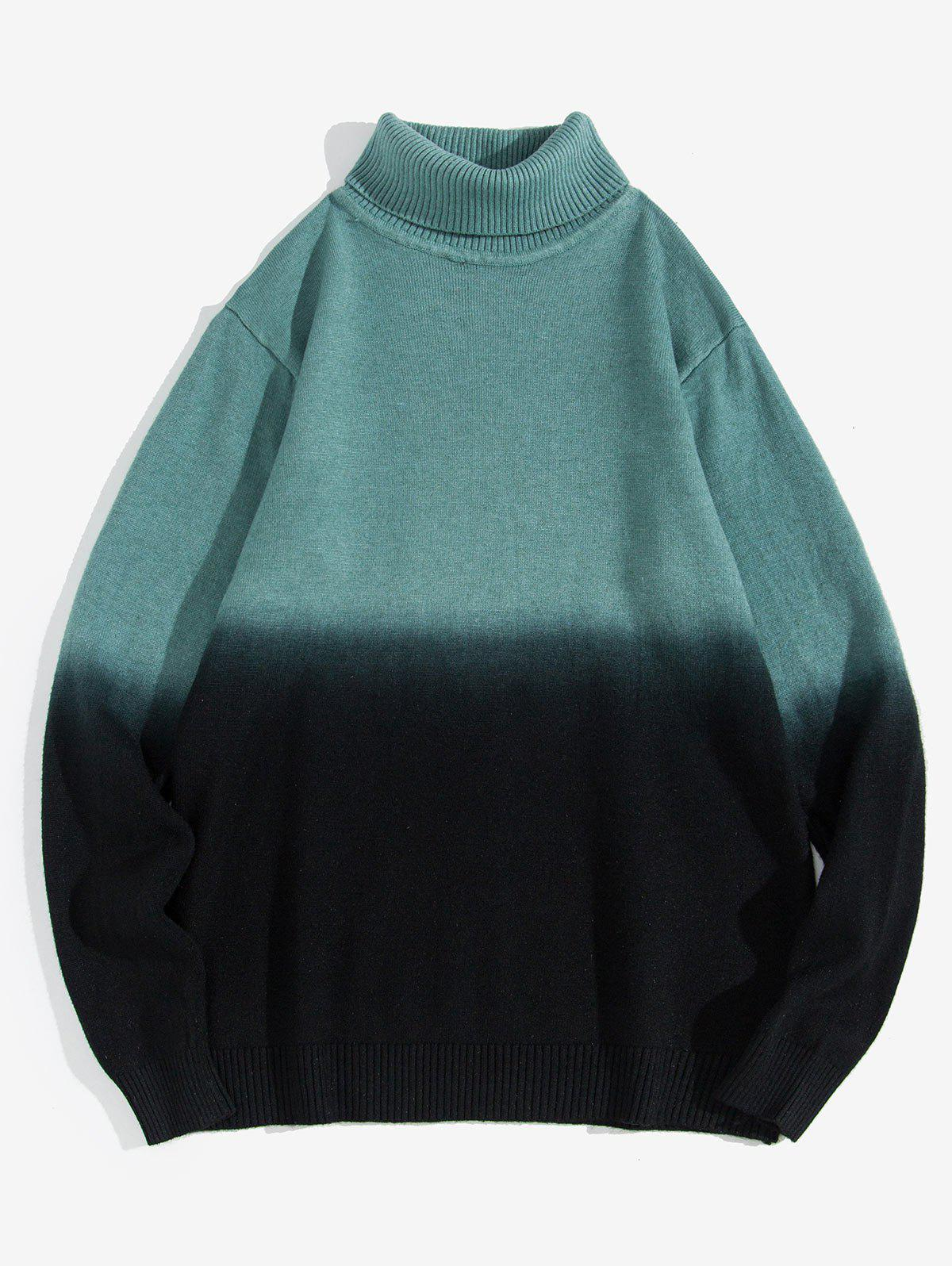 Sale Turtleneck Two-tone Ombre Sweater