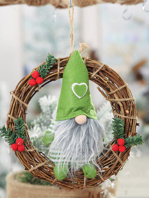 Trendy Father Christmas Wreath Hanging Decoration