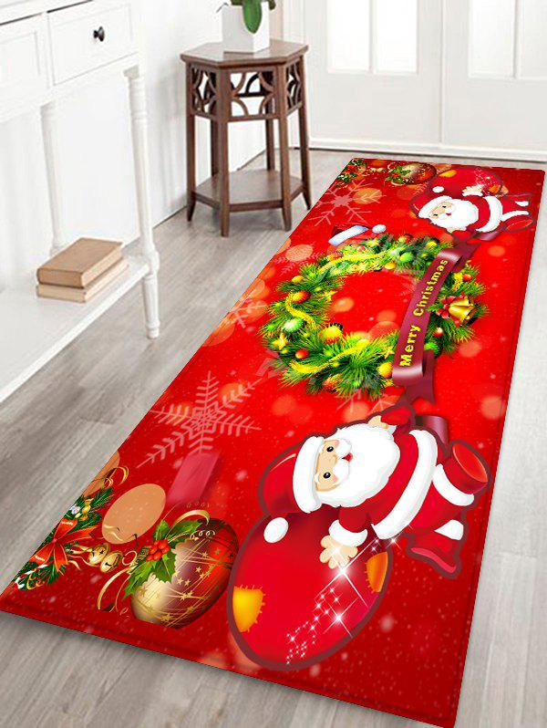 Outfits Father Christmas Wreath Pattern Floor Rug