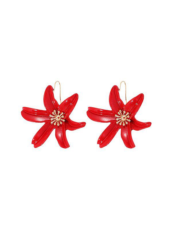 Hot Fresh Style Carved Flower Drop Earrings