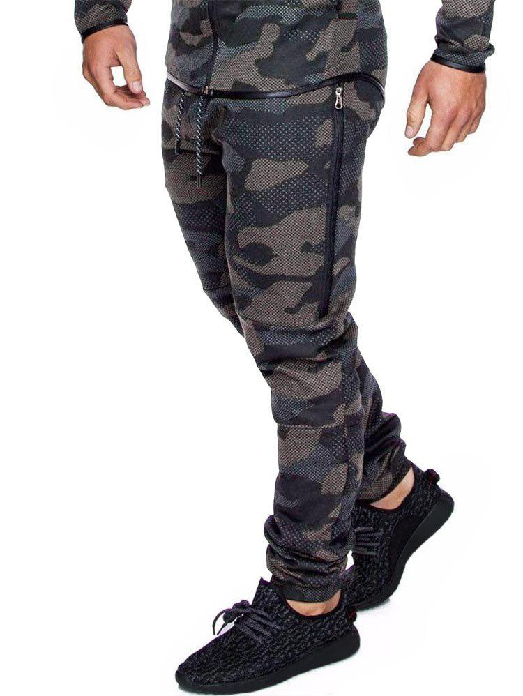 Latest Camo Print Drawstring Casual Jogger Pants