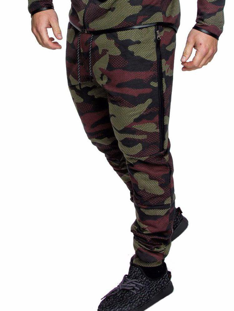 Sale Camo Print Drawstring Casual Jogger Pants