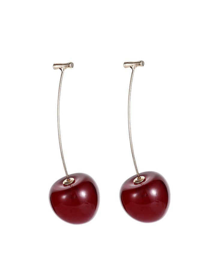 Sale Personalized Cherry Design Resin Earrings