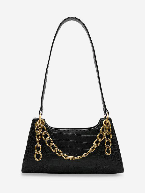 Outfit Metal Chain Animal Embossed Sling Bag