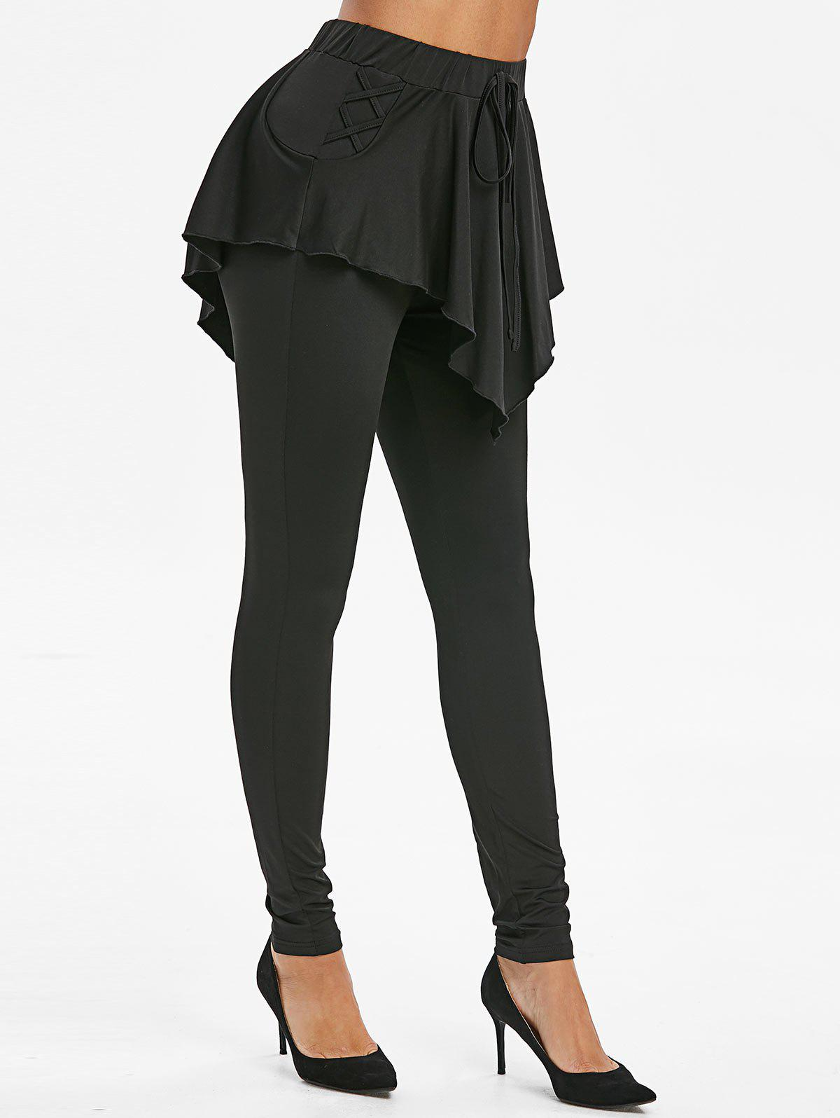Cheap Criss Cross Overlay Leggings