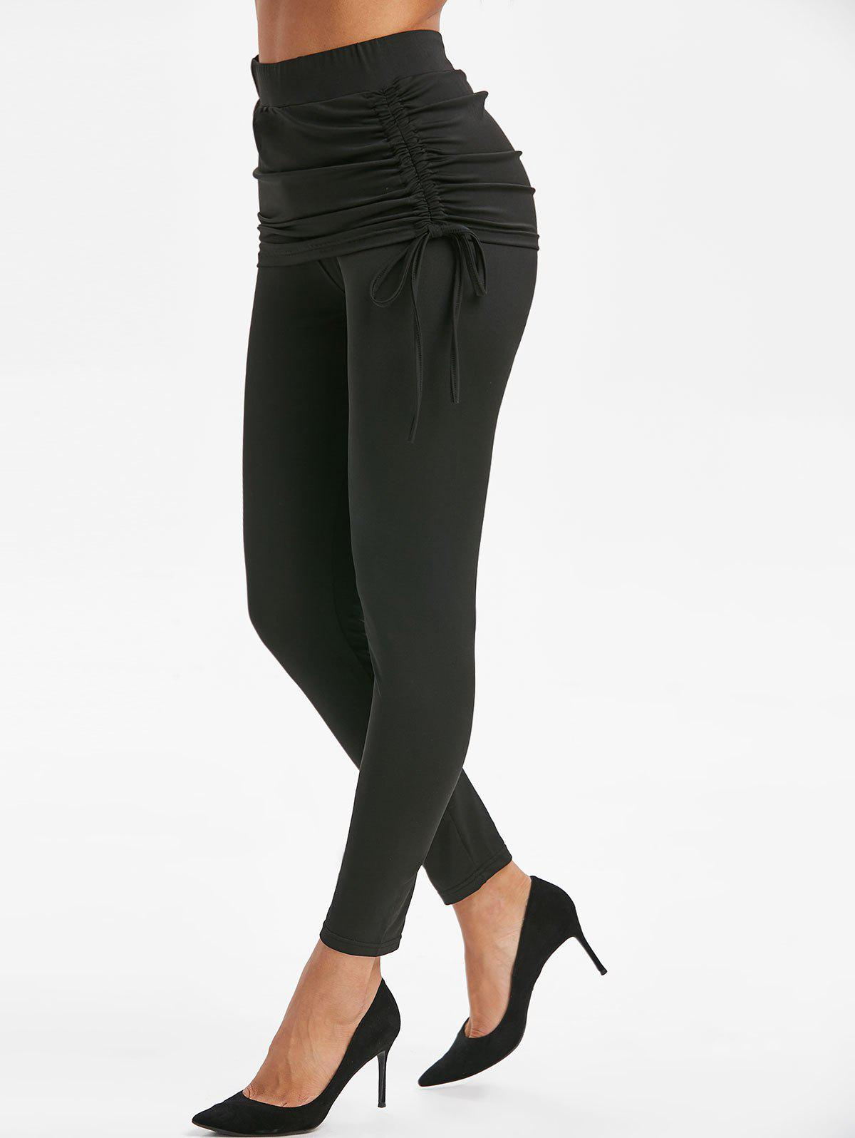 Sale Side Cinched Skirted Leggings