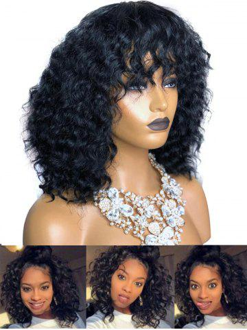 See-through Bang Long Afro Curl Synthetic Wig