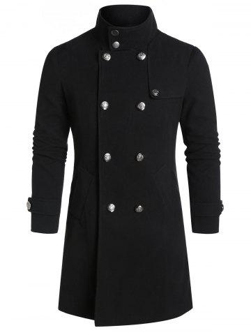 Vintage | Double | Slit | Wool | Coat | Back