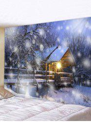 Christmas Snow House Pattern Tapestry -