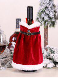 Christmas Santa Claus Costume Pattern Wine Bottle Cover -