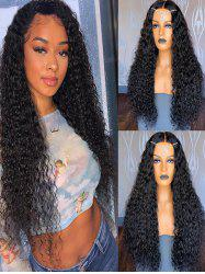 Synthetic Long Afro Small Curl Fluffy Center Part Wig -