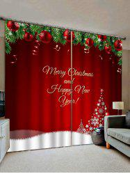 Merry Christmas Tree Pattern Window Curtains -