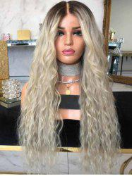 Wavy Synthetic Long Center Part Ombre Wig -