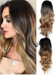 Side Part Long Body Wave Ombre Synthetic Wig -