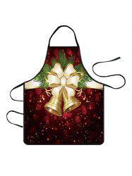 Christmas Bowknot Bells Print Cooking Apron -