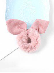 Faux Fur Rabbit Ears Fabric Scrunchy -