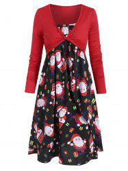 Santa Claus Christmas Cami Dress with Twist Top -