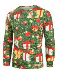 Christmas Tree Ball Gift Print Casual Sweatshirt -