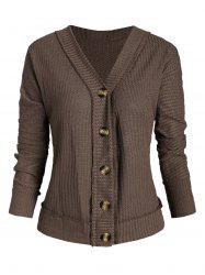 Plunge Batwing Sleeve Knitted Cardigan -