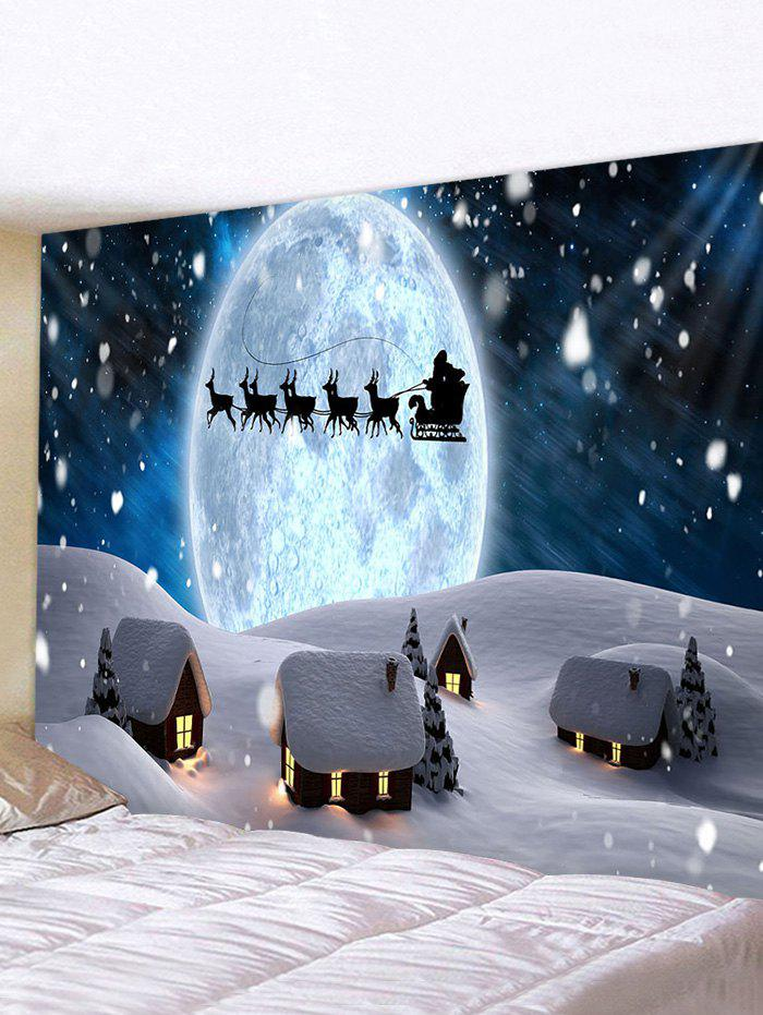 Fancy Christmas Snow Night Pattern Tapestry