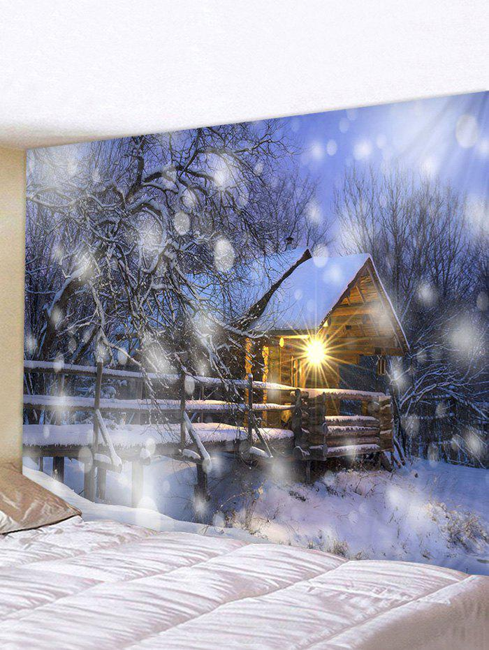Affordable Christmas Snow House Pattern Tapestry
