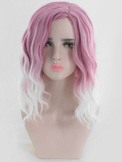 Outfit Ombre Medium Side Part Wavy Synthetic Wig