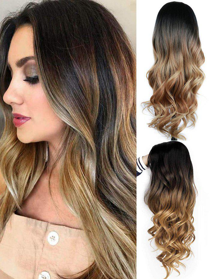 Hot Side Part Long Body Wave Ombre Synthetic Wig