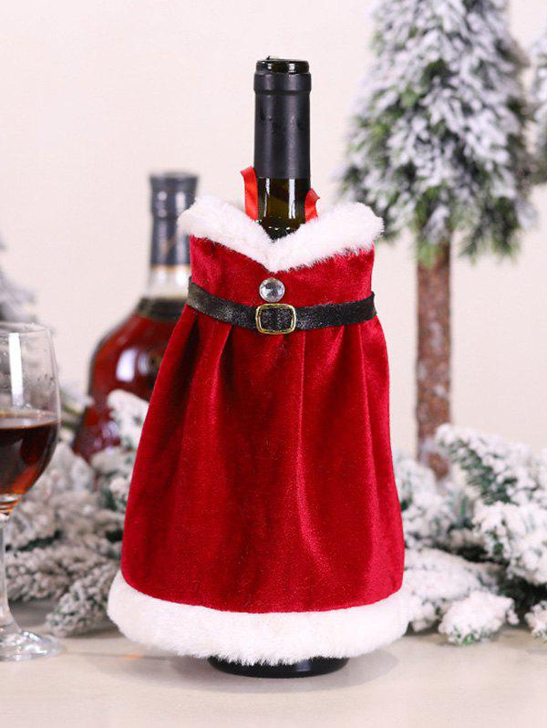 Sale Christmas Santa Claus Costume Pattern Wine Bottle Cover